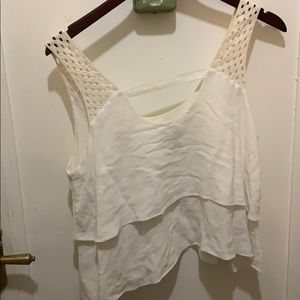 Anthropologie Tops - HD in Paris Anthropologie white chiffon lace top